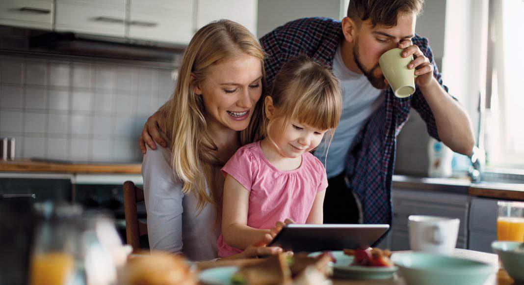 Gerade bei Familien mit Kindern spielt sich viel in der Küche ab.