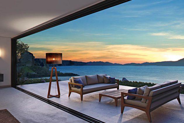 """Die Stehleuchte """"Club"""" lässt jede Terrasse zu einem wohnlichen Wohlfühlort werden."""