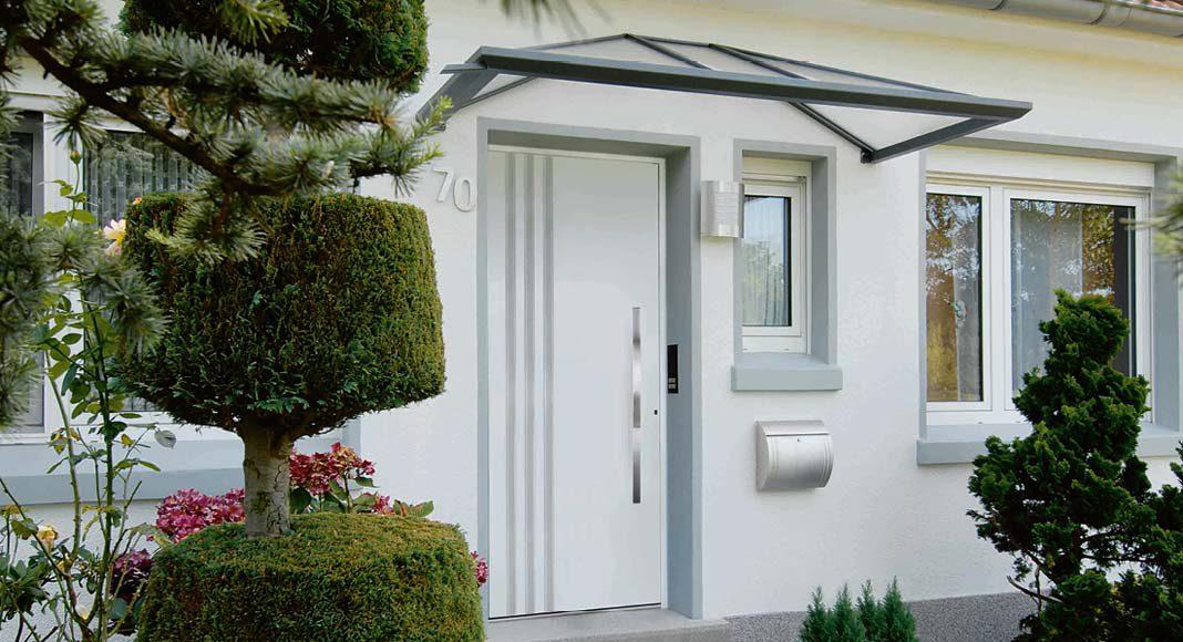 Das passende Vordach zu Ihrer Haustür.