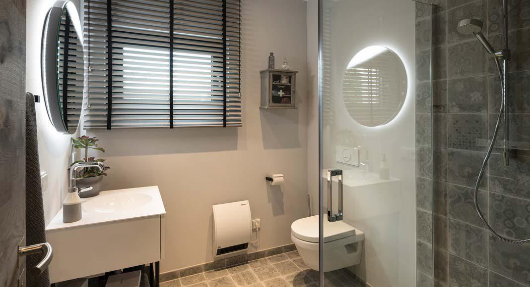 Auch auf wenigen Quadratmetern ist Komfort möglich, beweist das Gäste-Bad.
