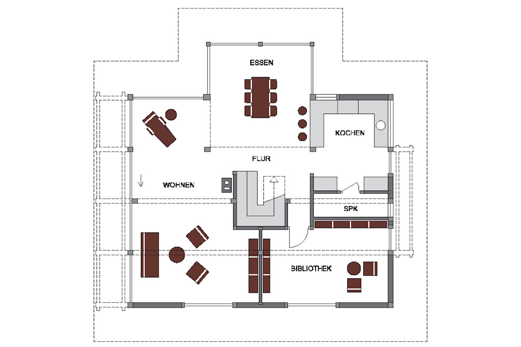 Hanghaus Grundriss Erdgeschoss