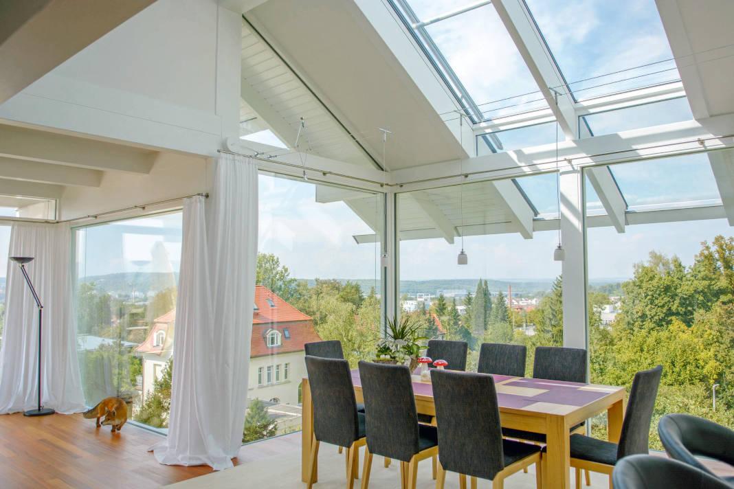 Verglasung im Dachgeschoss