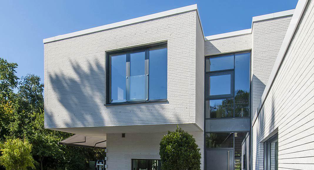 Einzigartiges Haus mit Mauerwerk aus Kalksandstein.