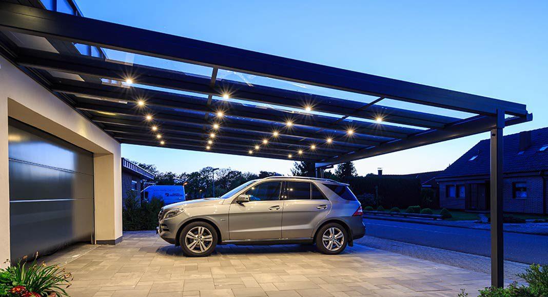 Mit dem Aluminium-Profilsystem von heroal können Terrassenüberdachungen, Wintergärten, Carports und Vordächer realisiert werden.