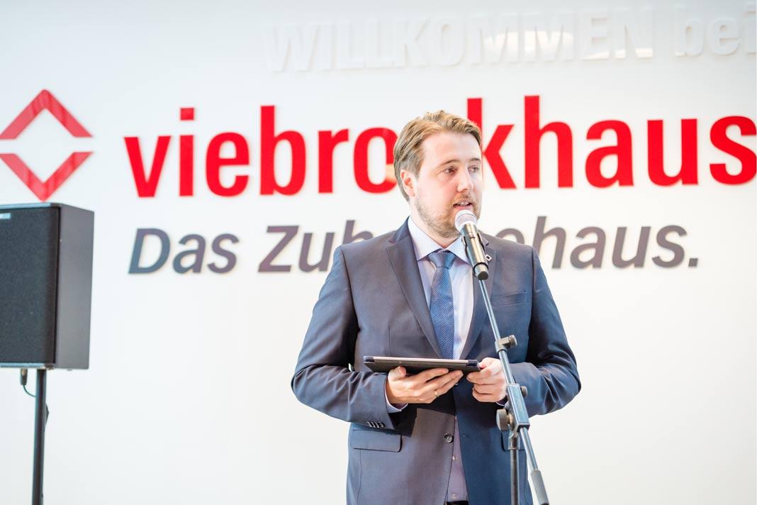 Dirk Viebrock, Firmenchef von Viebrockhaus.