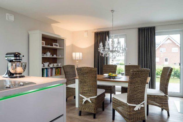 Diese offene Wohnform kommt den Bauherren in ihren Lebensgewohnheiten sehr entgegen.