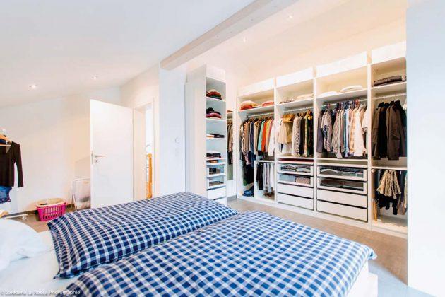 Schlafzimmer im Musterhaus von WeberHaus.