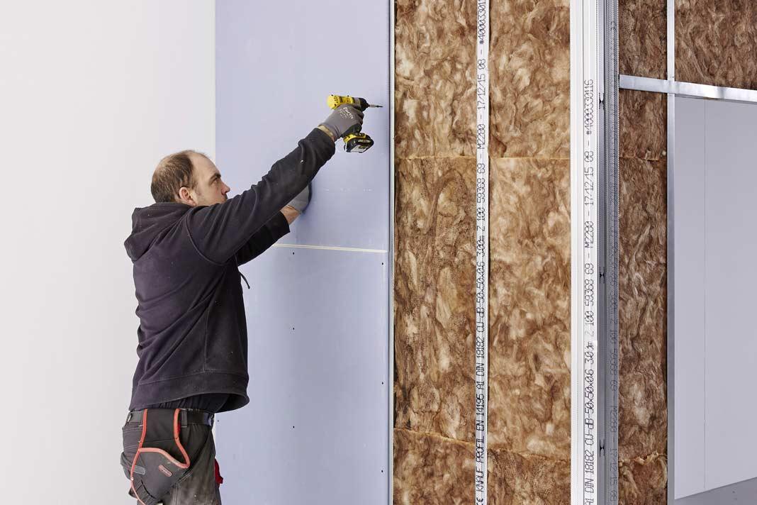 Renovierung mit Gipsplatten von Knauf.