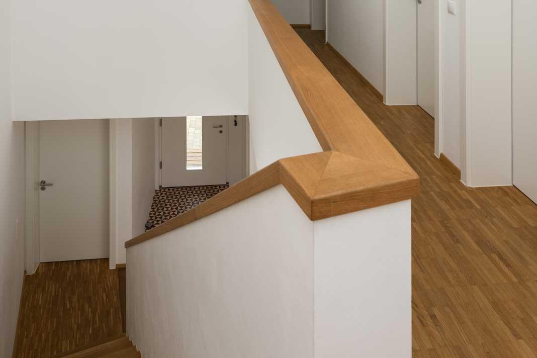 Treppengeländer.