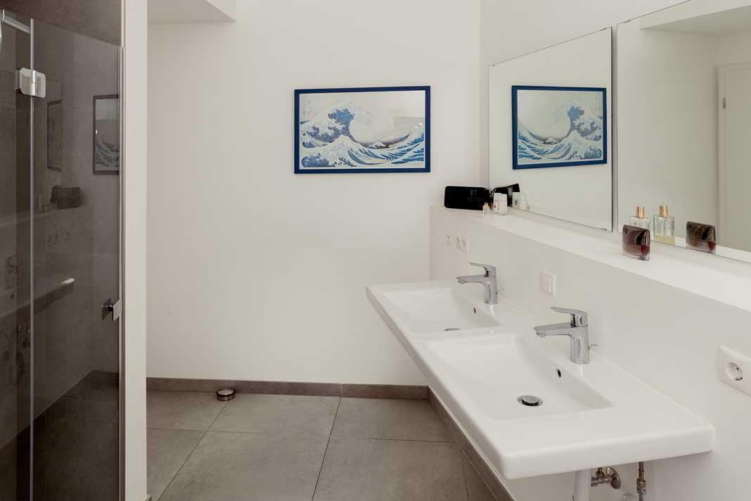Badezimmer in der Tabakscheune.