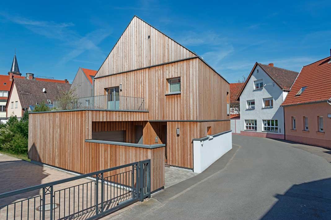 Bei der architektonischen Gestaltung von Haus Legittimo haben Tabakscheunen Pate gestanden.
