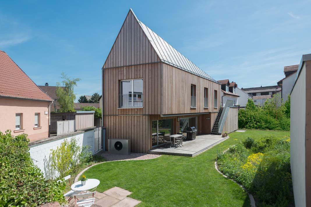 Haus mit großem Garten.