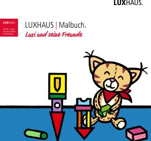 Malbuch, gestaltet von Stephan Ewich, herausgegeben von LUXHAUS.