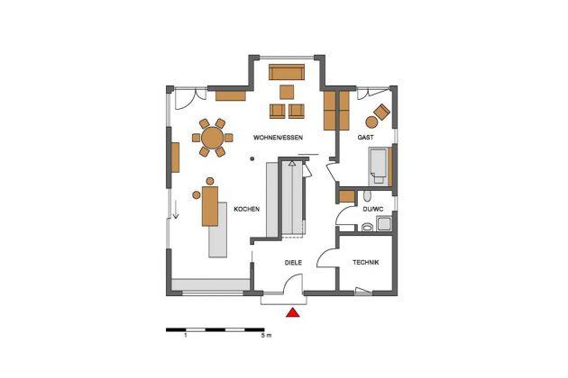 Bauplan des Musterhauses.