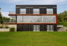 Außergewöhnliche Architektur dank dem Unternehmen Baufritz.