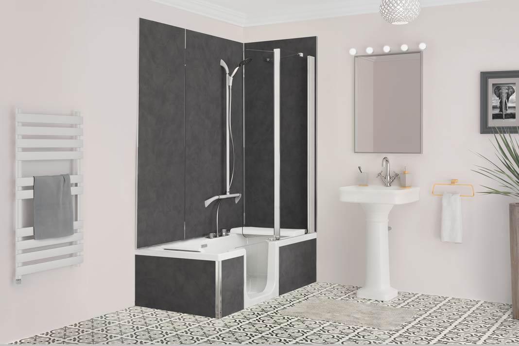 individuell gestaltbare dusch badewanne livvi de. Black Bedroom Furniture Sets. Home Design Ideas