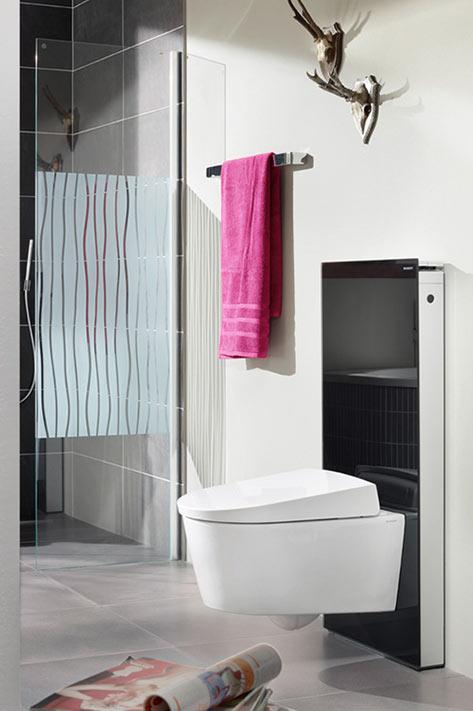Mehrwert im Badezimmer: Ein Dusch-WC reinigt den Po mit einem sanften Wasserstrahl.