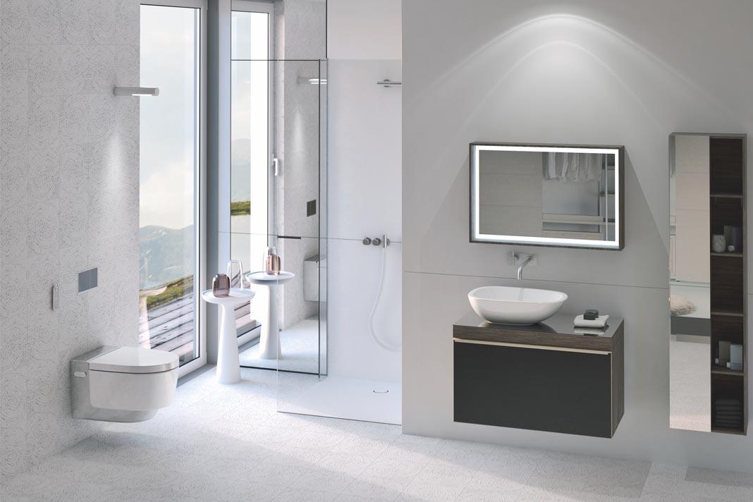 Auch aus einem kleinen Raum lässt sich mit der entsprechenden Ausstattung ein Komfortbad schaffen.