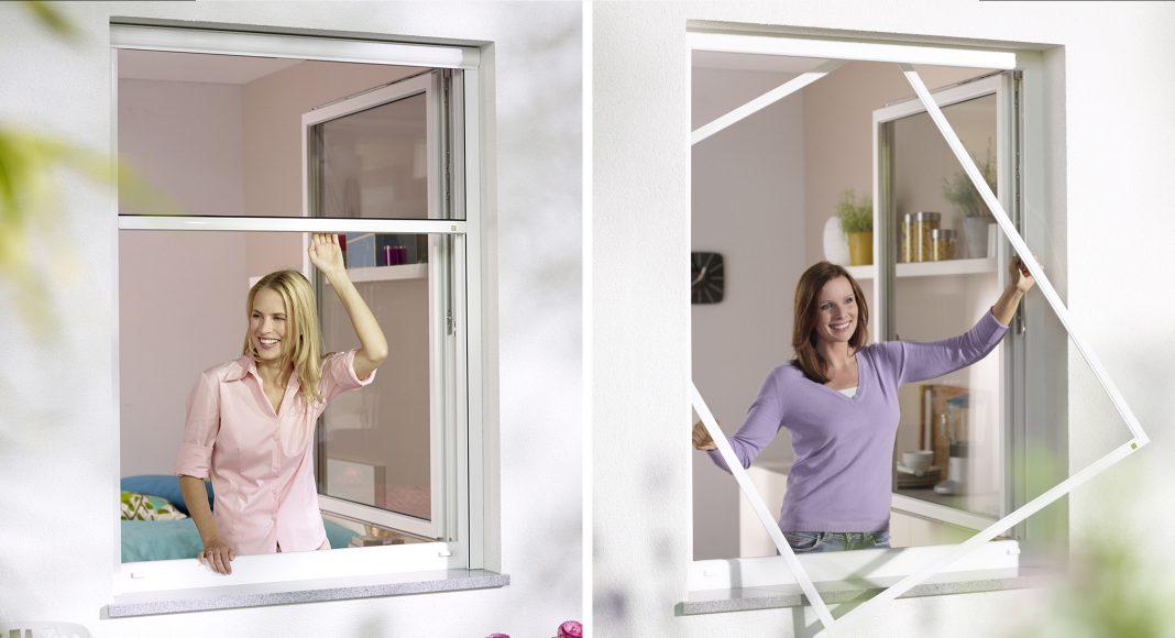 Pollen -und Insektenschutzgitter für das Fenster.