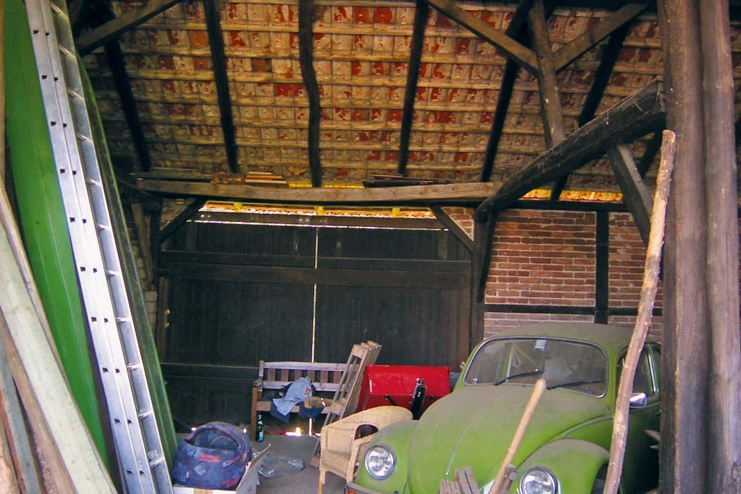 Vor dem Umbau beherbergte die Scheune unter anderem dieses Schätzchen.