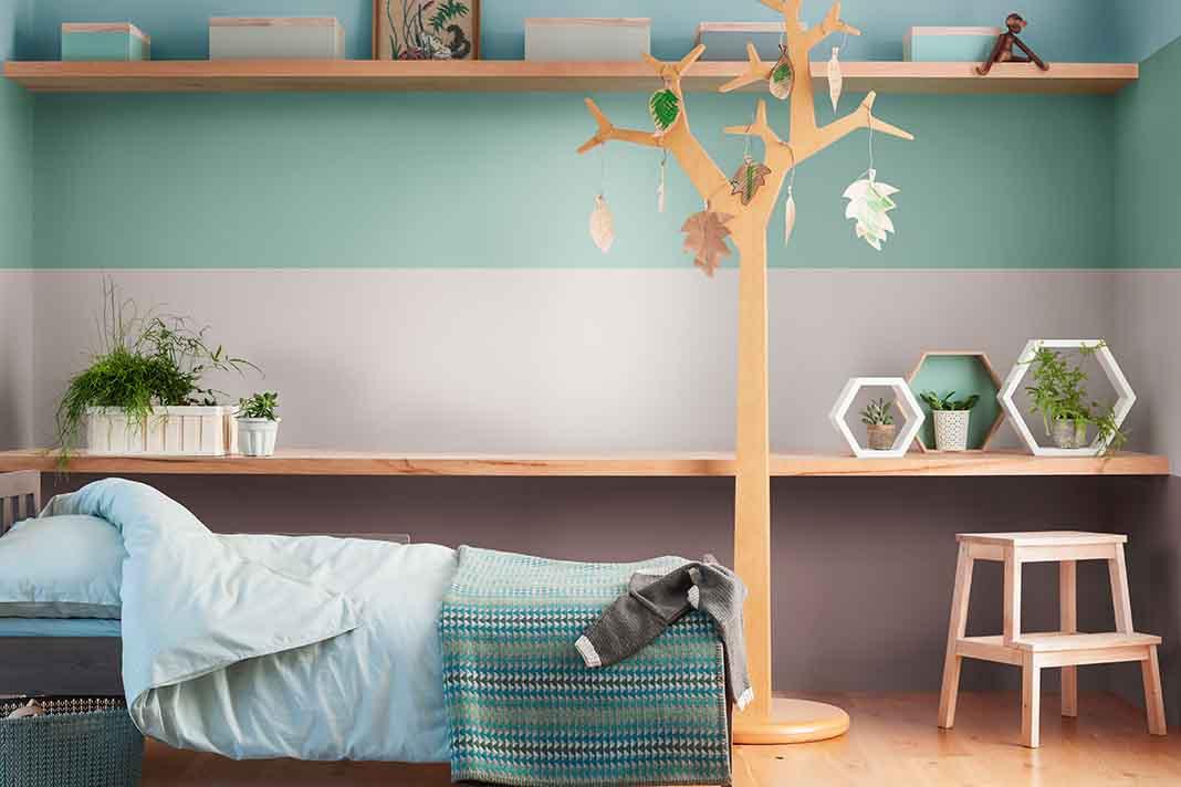 Mehrere Farben auf einer Wand
