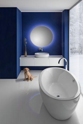 Waschtischplatten aus Mineralwerkstoff lassen sich individuell anpassen.