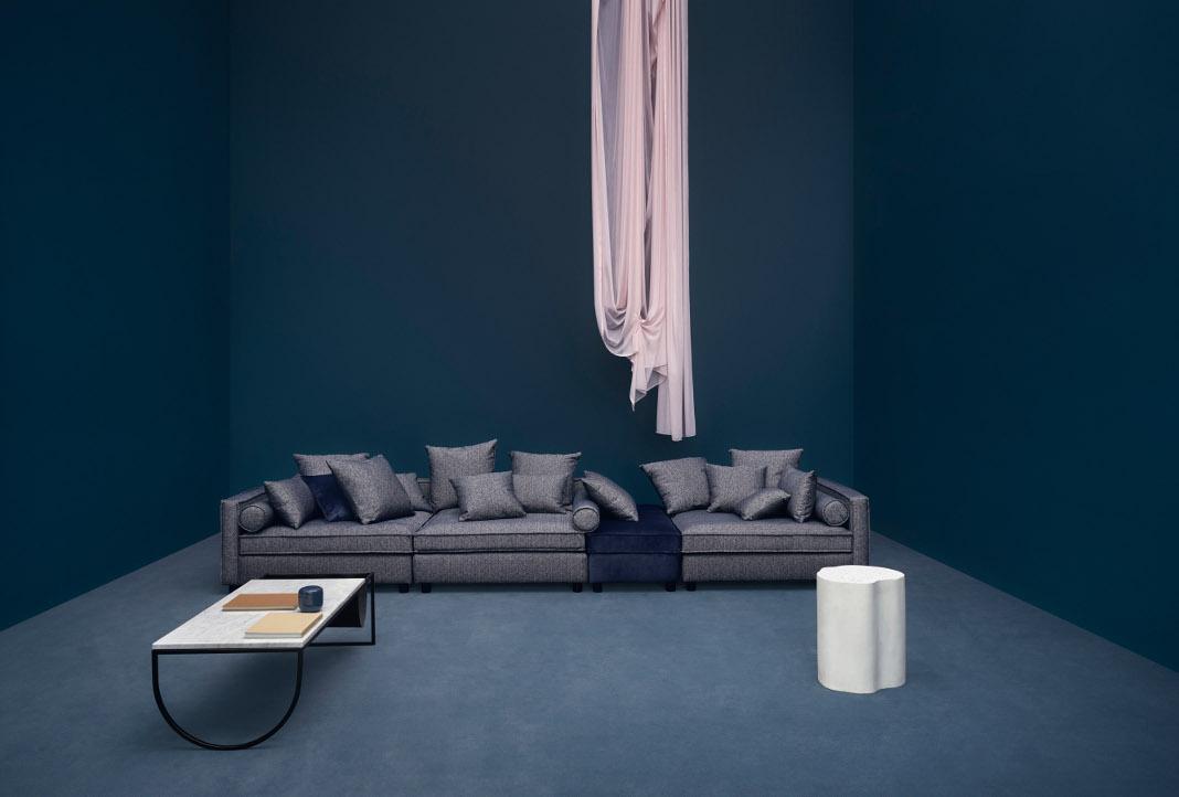 Modulsofas perfekt zur individuellen gestaltung jedes raumes - Dunkelblaue couch welche wandfarbe ...