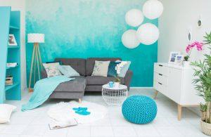 Designtrend ombr wand selber machen for Wandgestaltung zweifarbig