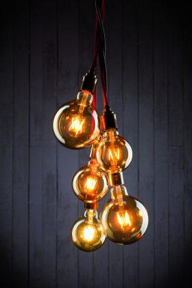 goldene Retro Glühbirnen