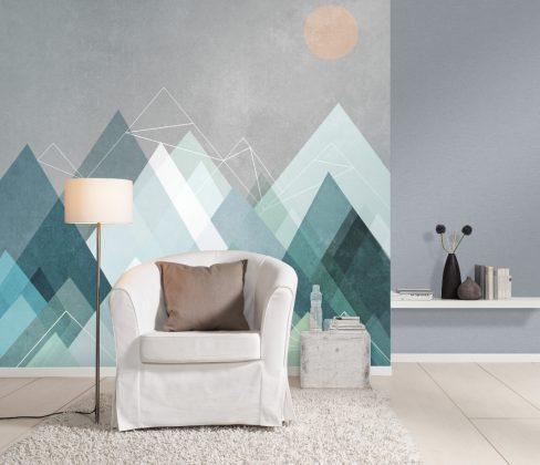abstrakte Formen sorgen für ein tolles Wanddesign