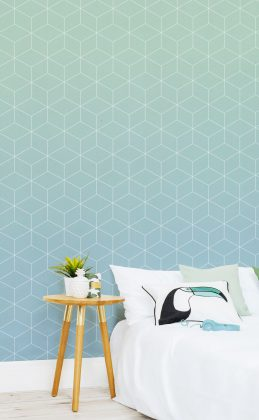 Kombination aus geometrischen Formen und Ombré