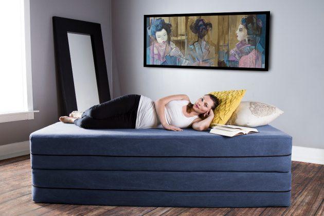 Einzelbett mit besonderem Design