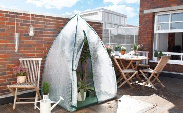 Foliengewächshaus zum Überwintern von Pflanzen