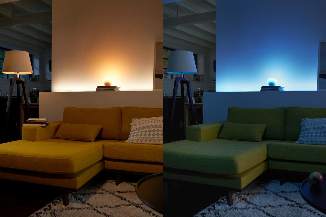 Wirkung von indirektem Licht auf einen Raum.