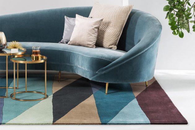 handgetufteter Teppich aus Naturmaterialien