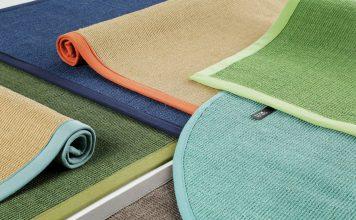 verschiedene Teppiche aus Naturmaterialien