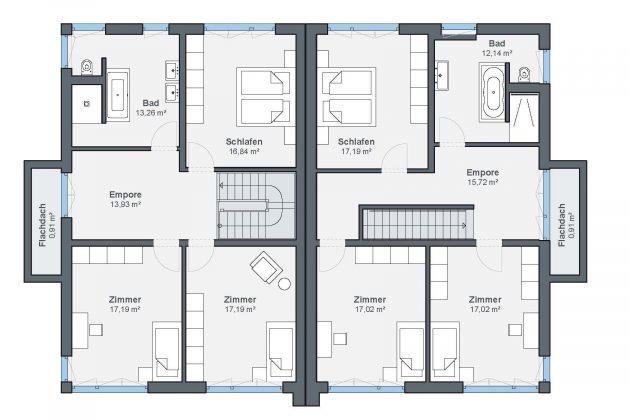 Grundriss Dachgeschoss Kundenhaus Krüger WeberHaus