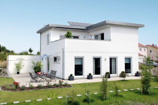Dachterrasse und Garten