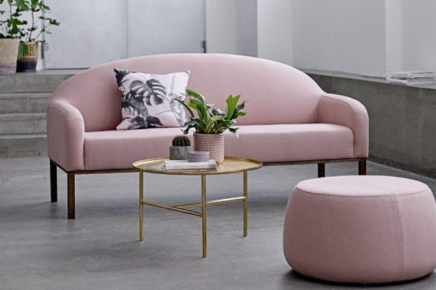 Retro Sofa rosa