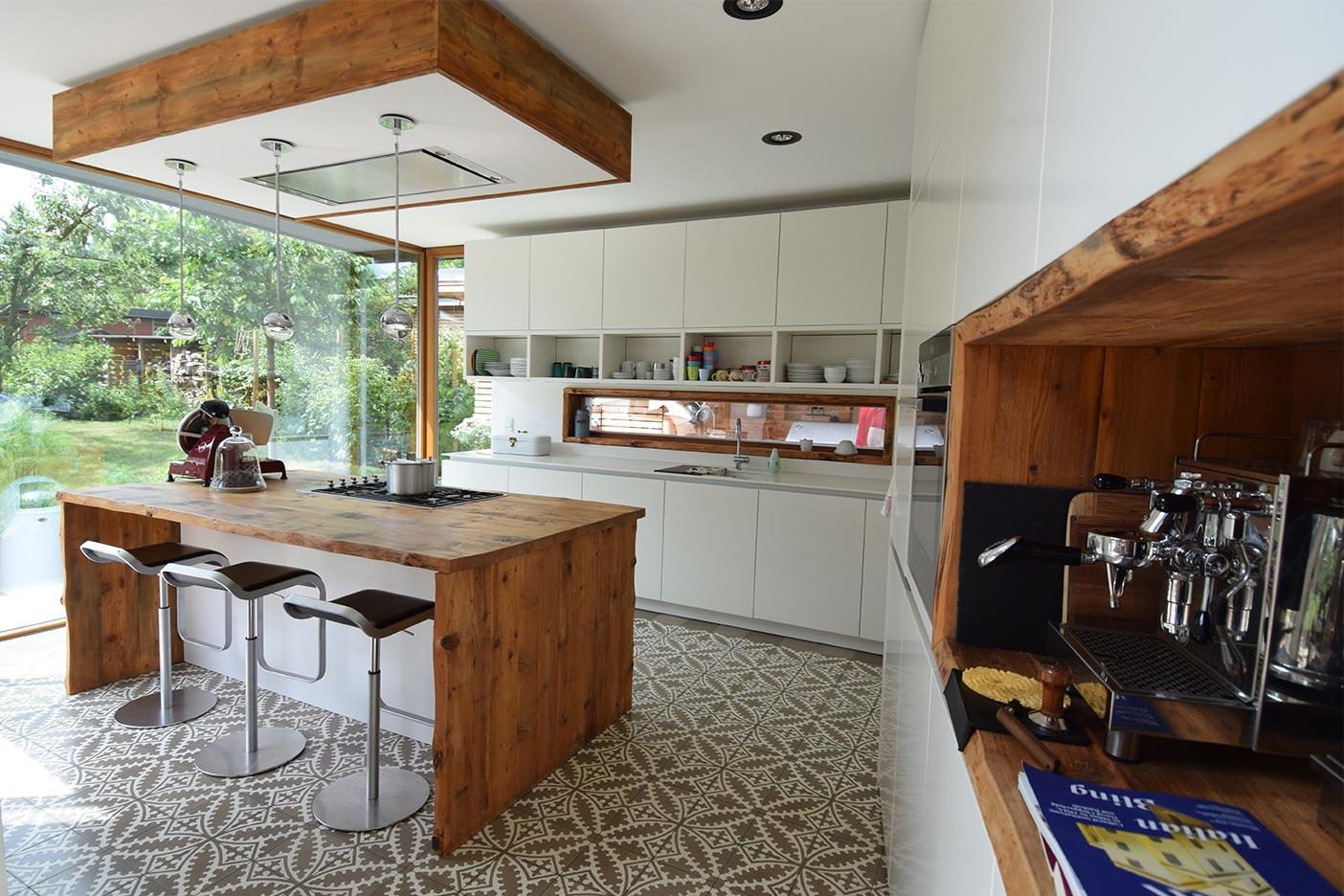 Ansicht der Küche im Neubau
