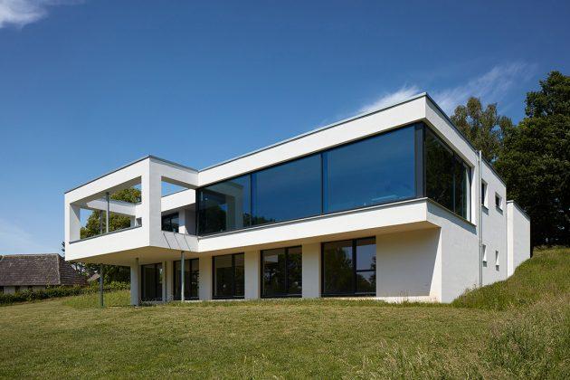 großflächige Verglasungen - Gartenansicht des Neubaus - KS-ORIGINAL GmbH
