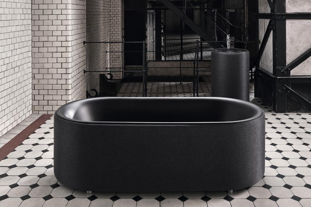 Design Badewanne mit Polsterung