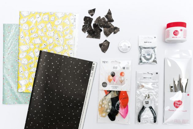 Material für DIY-Halloween Lampions