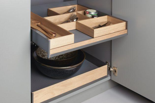 Tablarsystem im Küchenschrank