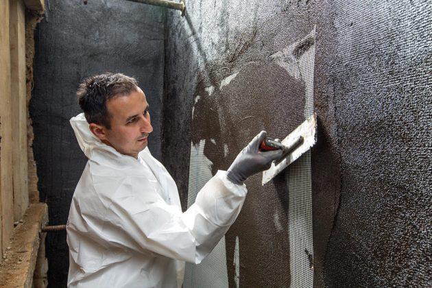 Schutz vor feuchten Wänden durch die Abdichtung.