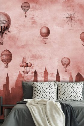 Pantone Farbe 2019 Ballons Schlafzimmerwand