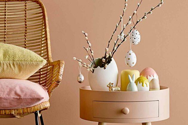 Osterdeko mit Eiern
