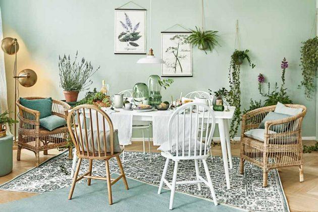 Frühlingshafte Osterdeko am Tisch