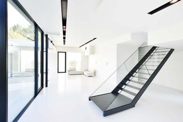Stahl-Glas-Treppe Einfamilienhaus