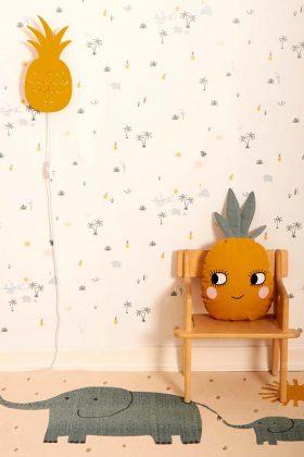 Nachtlicht Ananas Kinderzimmer Lampe